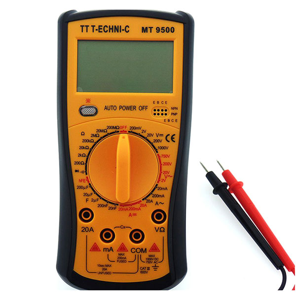 MULTIMETER MT-9500 MULTIMER MT-9500  TT Technic MT 9500 Dijital Multimetre