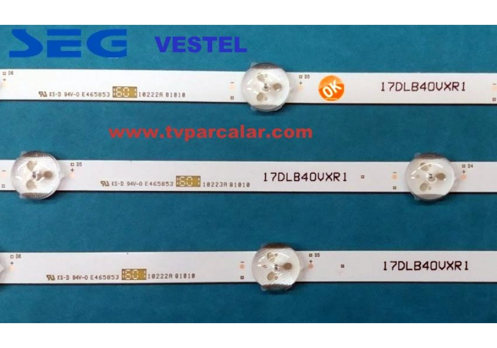 LED STRIP VESTEL 40 17DLB40VXR1 LB40017 V0.03 A-T LED STRIP VESTEL 40