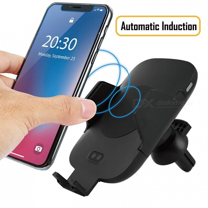 CAR FAST WIRELESS CHARGER C9 CAR FAST WIRELESS CHARGER C9  �нфрачервено бързо зарядно за Samsung Galaxy S6 S8 S8 Note 8 (черен)
