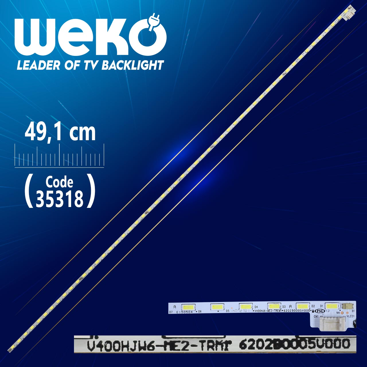 LED STRIP ELED V400HJ6-ME2-TREM1 52LED 490MM LED STRIP ELED V400HJ6-ME2-TREM1 52LED 490MM